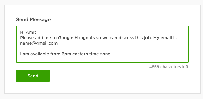 Interviewing candidates on upwork